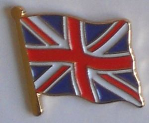 Great Britain Union Jack Country Flag Enamel Pin Badge